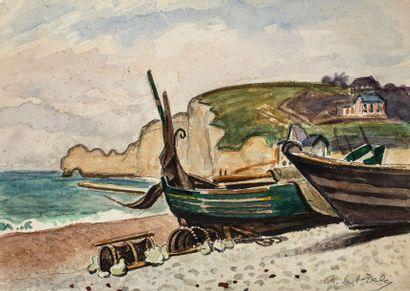 RENÉ DE SAINT-DELIS (1873-1958) Marée basse...