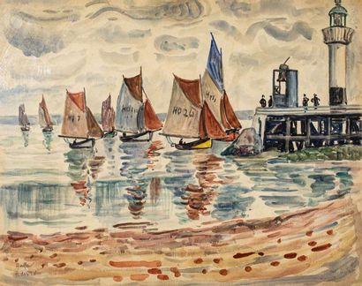 HENRI DE SAINT-DELIS (1878-1949) Voiliers...
