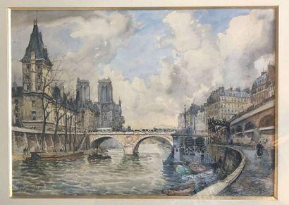 FRANK-WILL (1900-1951)  Paris, Notre-Dame...