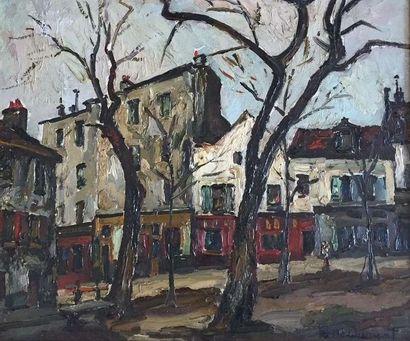 Pierre DUMONT ( 1884-1936) Paris la place...