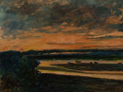DENISE MARTIN (1905-1999)  Aurore en Bretagne...