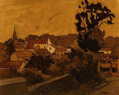 RAOUL SERRES (1881-1971)  Paysage de Bretagne...
