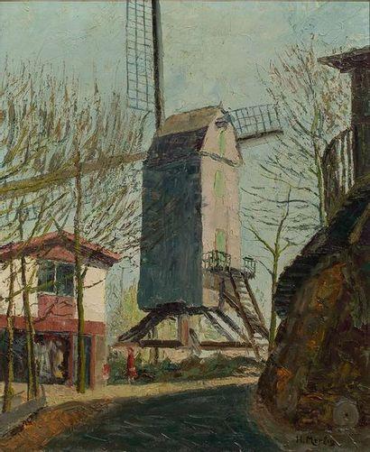 HENRI MERLIN (XXè SIECLE)  Le moulin de la...