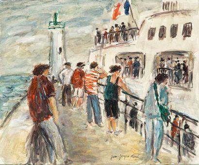 Jean-Jacques RENE (Né en 1943)  Le départ...