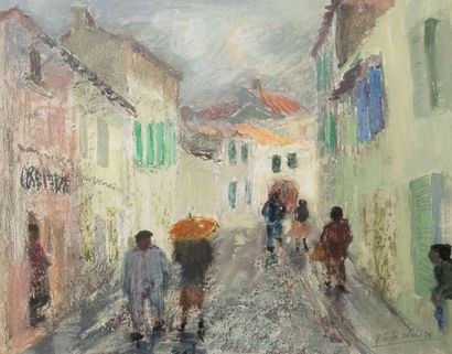 YVONNE CHEFFER-DELOUIS (1910-2003)  Scène...