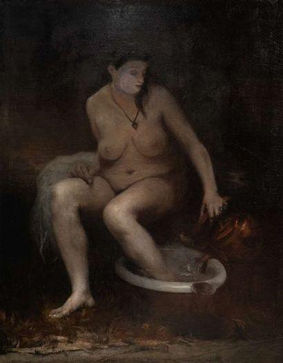 JONAS JOSEPH LAVALLEY (1858-1930)  La toilette...