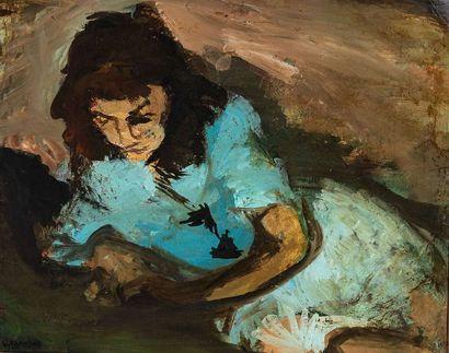 VASYL KHMELUK (1903-1986)  Jeune fille au...