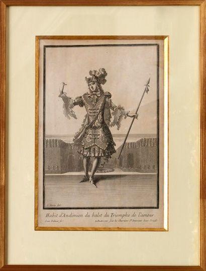 """D'après Jean BERAIN (C.1660-1711)  """"Habit d'Endymion pour le ballet Le Triomphe..."""