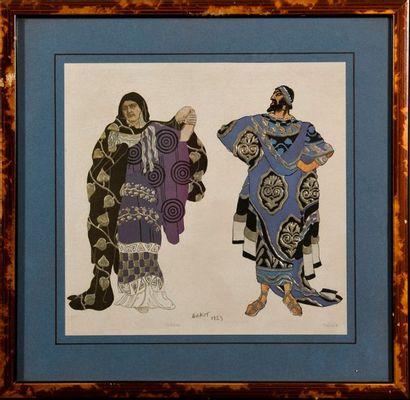 """D'après Léon BAKST (1866-1924)  """"Phèdre et Thésée"""" et """"Le roi""""  Deux reproductions..."""