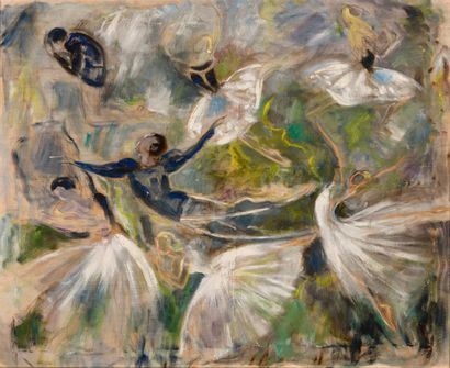 """Lucienne PAGEOT-ROUSSEAU (1899-1995)  """"Second act of Giselle or The Willis""""  Oil..."""