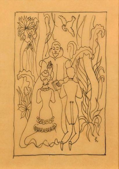Jean et Valentine HUGO (1894-1984 et 1887-1968)...