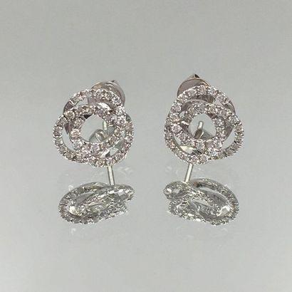 Paire de CLOUS d'OREILLES « trois anneaux...