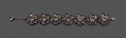BRACELET « fleurs » en argent noirci (925...