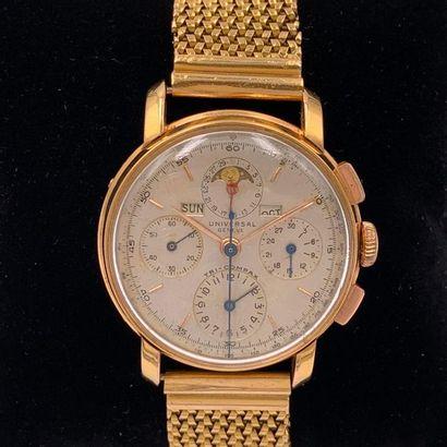 UNIVERSAL  BRACELET MONTRE chronographe en...