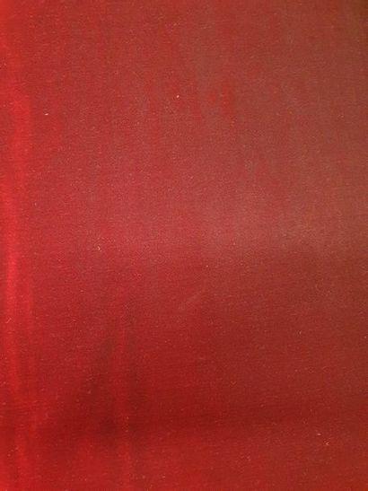 Velours de soie organsin rouge cramoisi Métrage:...