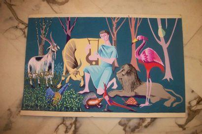 Carton de tapisserie d'après Roger Duterme...