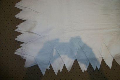 Couvre-lit en piqué de coton blanc, maison...