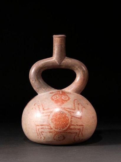 Vase à décor d'araignée  Terre cuite à engobe...