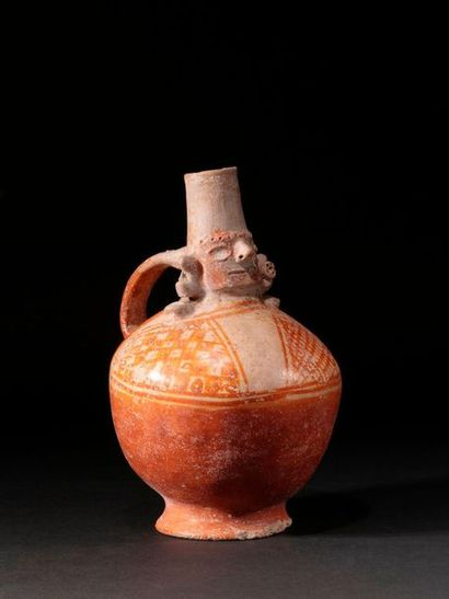 Vase orange Lambayeque  Terre cuite beige...