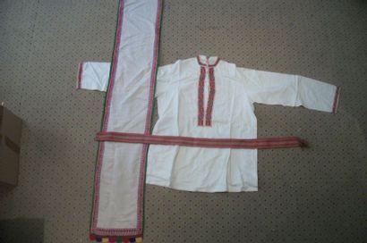 Chemise, étole et ceinture, Ukraine, coton...