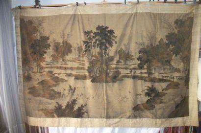 Tenture, Japon, période Edo, XIXème siècle,...