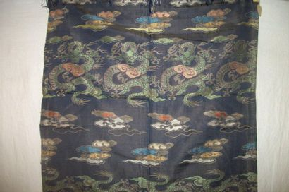 Fragment de lampas, Chine, dynastie Ming,...