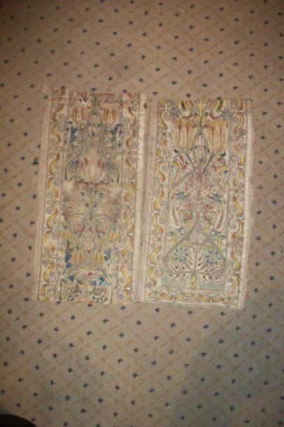 Deux éléments d'un bandeau, XVIème siècle,...