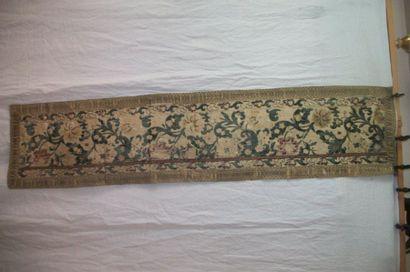 Bandeau dans un velours jardinière, XVIIIème...