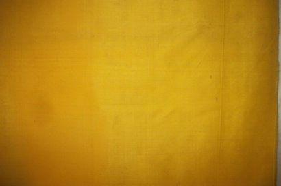 Lés de taffetas bourrette ou shantung jaune,...