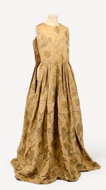 Curieuse robe, milieu XVIIIème siècle, bustier,...