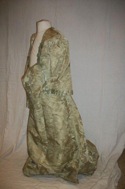 Robe à tournure (jupe et caraco), XIXème...