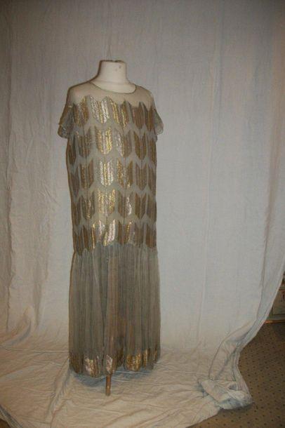 Robe du soir attribuée à Paul Poiret (1879-1944),...