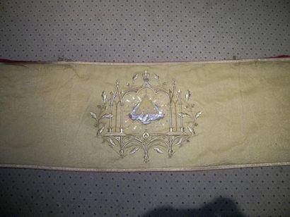 Voile huméral, XIXème siècle, drap d'or,...