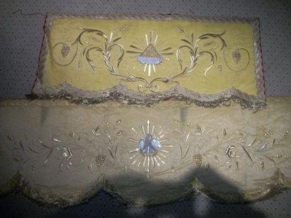 Lambrequin en drap d'or, XIXème siècle, décor...