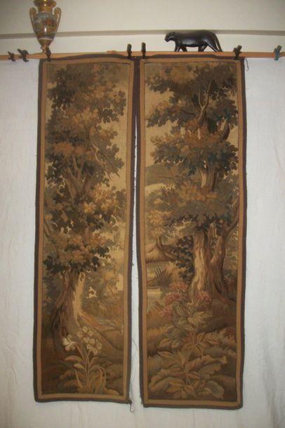 Deux pentes en tapisserie, Aubusson, fin...