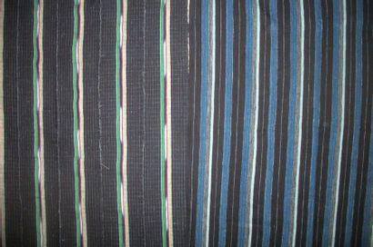 Pagnes, Nigéria, fond bleu indigo, décor...