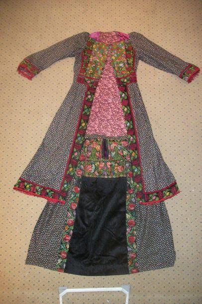 Robe bédouine, Syrie ou Palestine, velours...