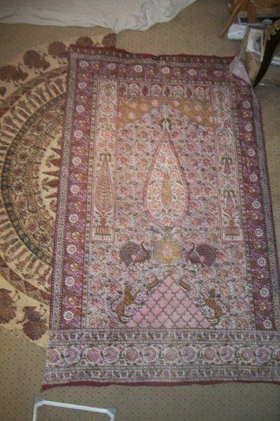 Kalamkari, Perse, coton imprimé à la planche,...