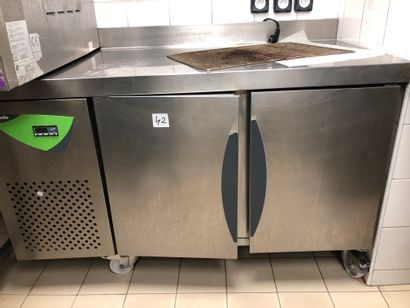 """THIRODE two-door refrigerator cabinet; """"refrigerator of the day"""". Dimensions: 140..."""