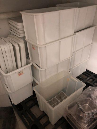 Lot de bacs pvc blanc, Palette alimentaire,...