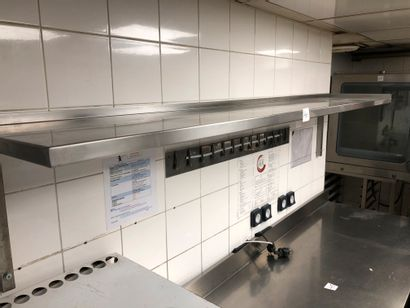 6 stainless steel wall shelves (including...