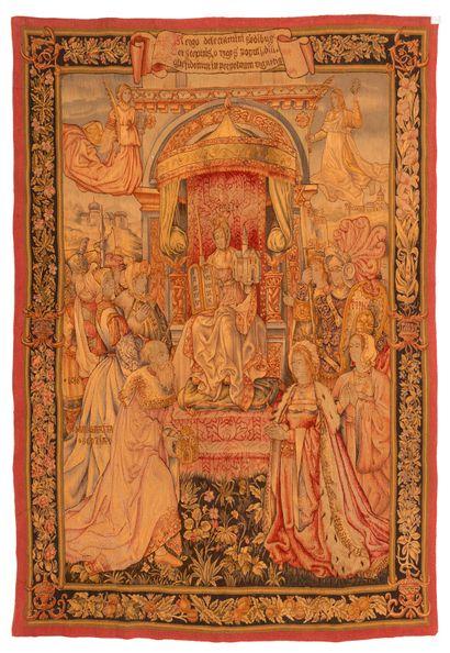 Tapisserie, laine et soie, fin XIXème siècle,...