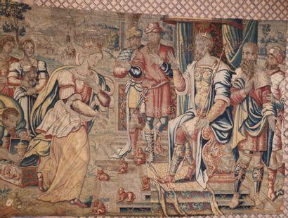 Tapisserie, laine et soie, Bruxelles, XVIème...