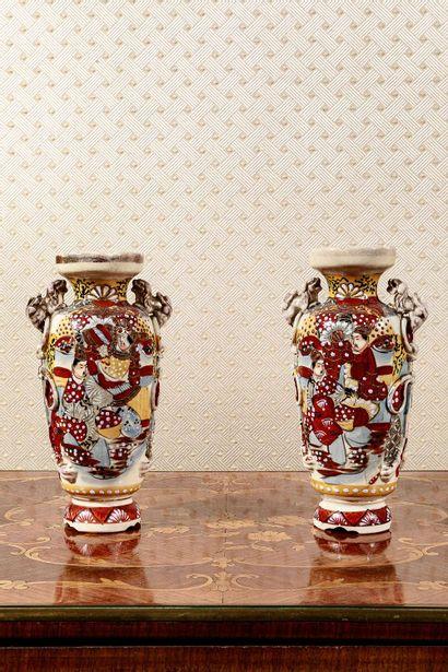 Paire de vase dans le goût de Satzuma  (...