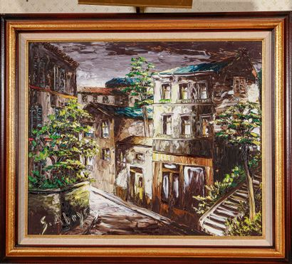 Léon SCHWARZ-ABRYS (1905 - 1990)  La ruelle...