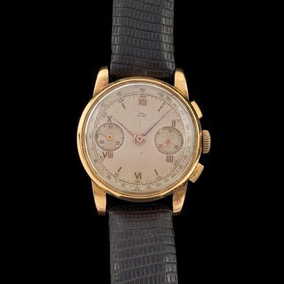 BRACELET MONTRE chronographe ronde en or...