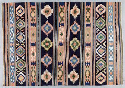 Original et grand Kilim Quasgai (Iran) vers...