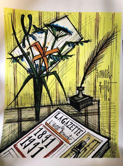 Bernard BUFFET (1928-1999)  La Gazette Drouot...