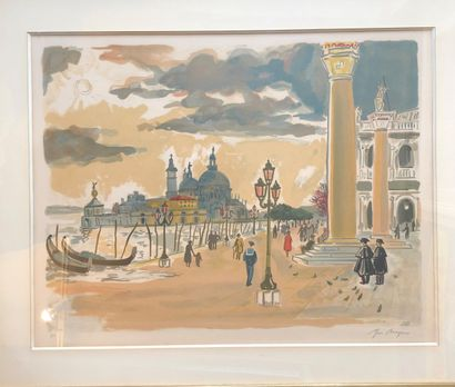 Yves BRAYER (1907-1990)  Venise  Lithographie,...