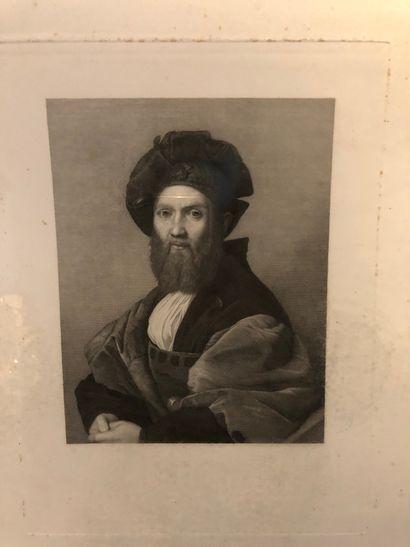 D'après Raphael  Portrait en buste de Baldassare...